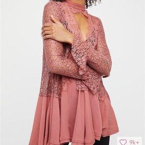 Free People Secret Origins Lace Tunic - Like New